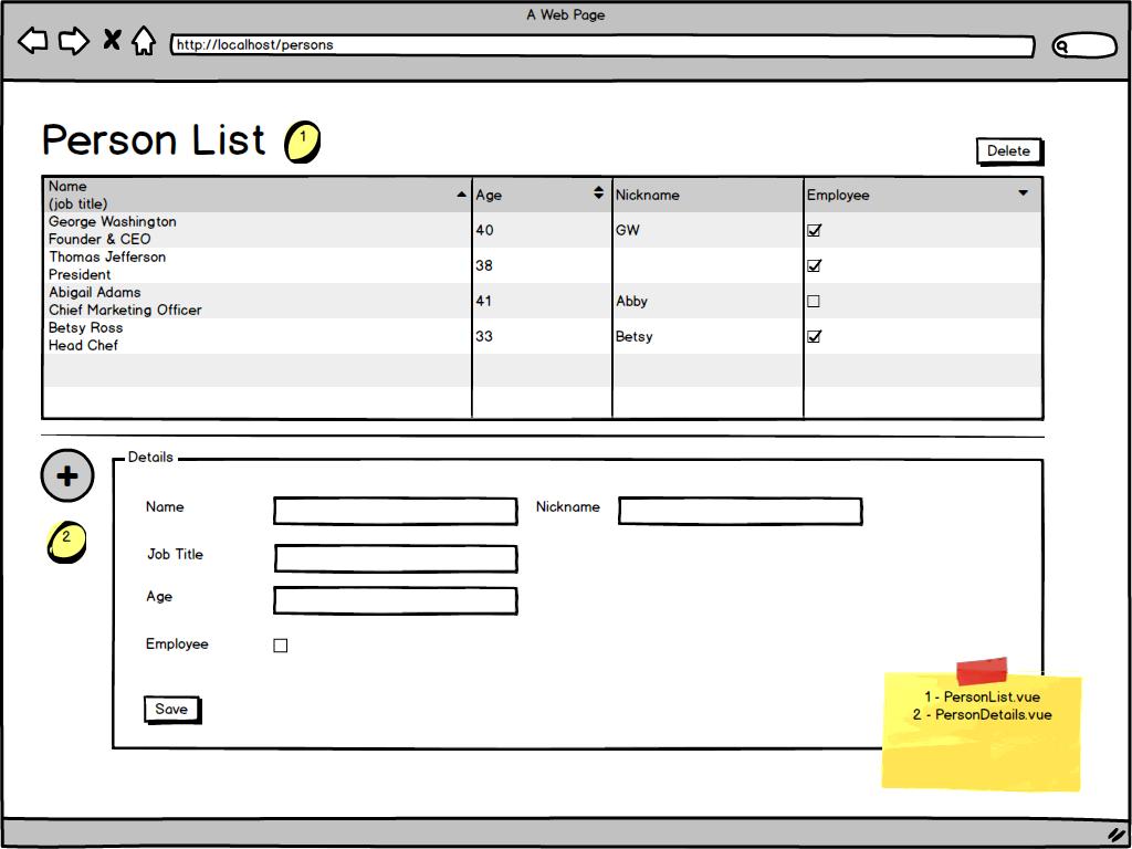 Bekwam Courses - Vue js Master / Details Persons Demo